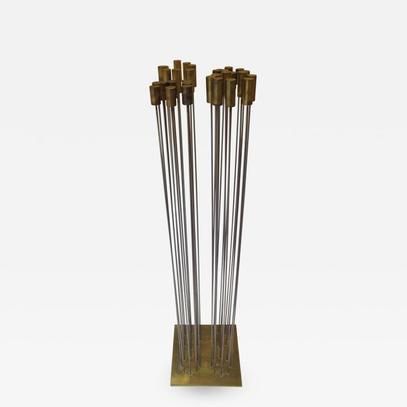 Val Bertoia Array of Steel Rods with Brass Chimes