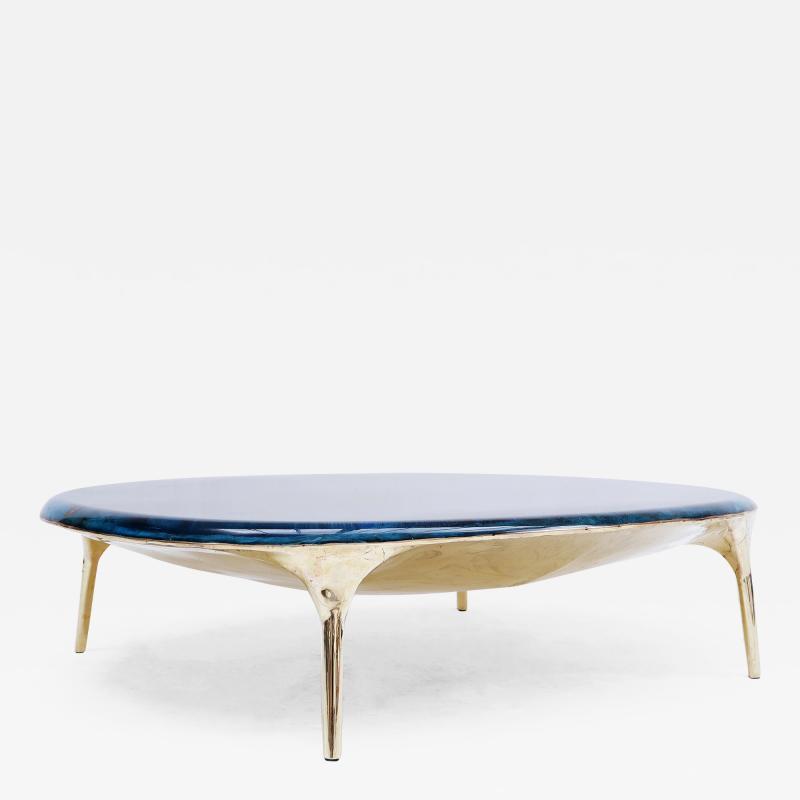 Valentin Loellmann Blue Brass Coffee Table