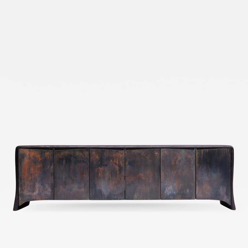 Valentin Loellmann Patinated Brass Sideboard