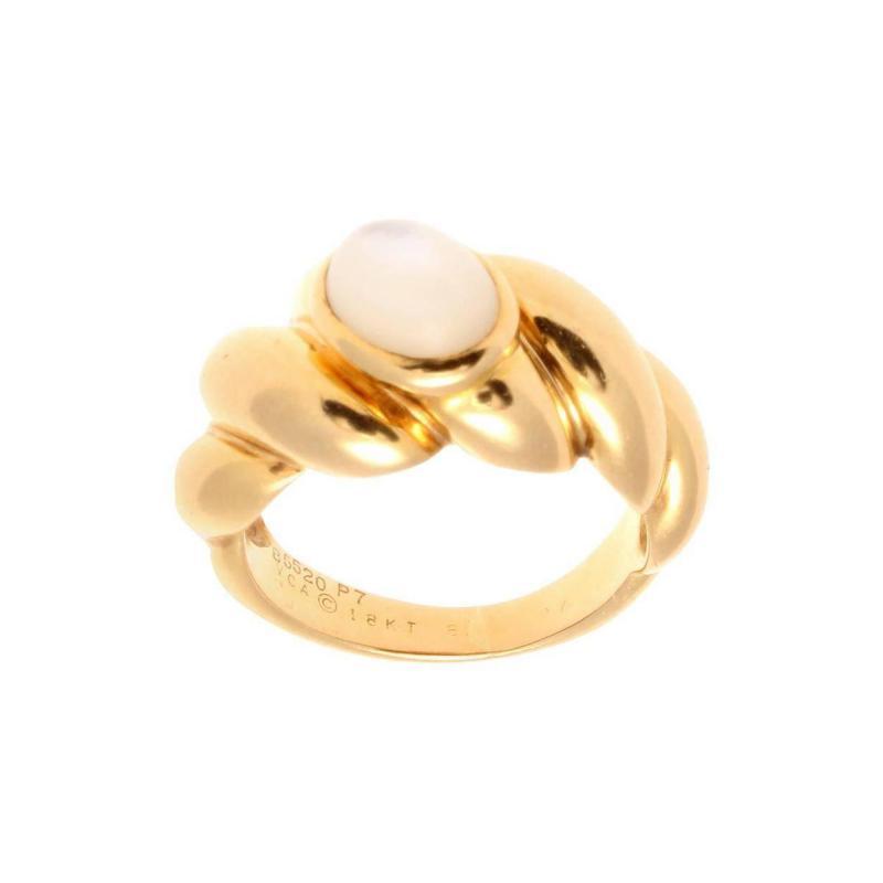 Van Cleef Arpels Moonstone Gold Ring
