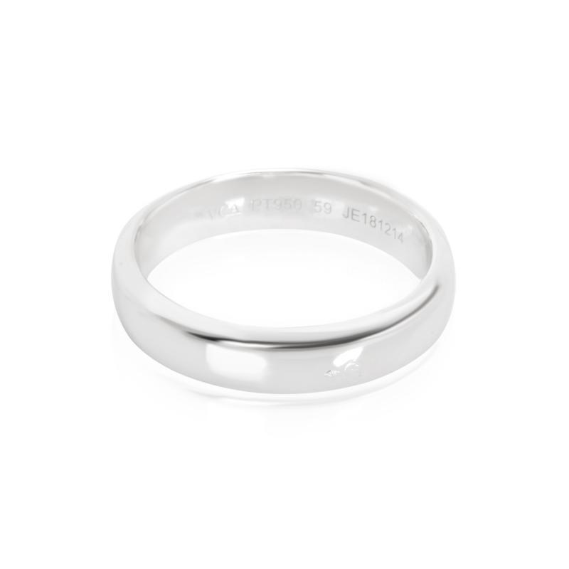 Van Cleef Arpels Toujours Mens Wedding Band in Platinum