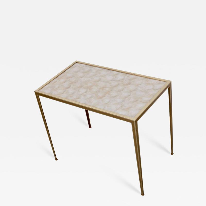 Vereinigte Werksta tten Brass and Mother of Pearl Side Table by Vereinigte Werkst tten M nchen