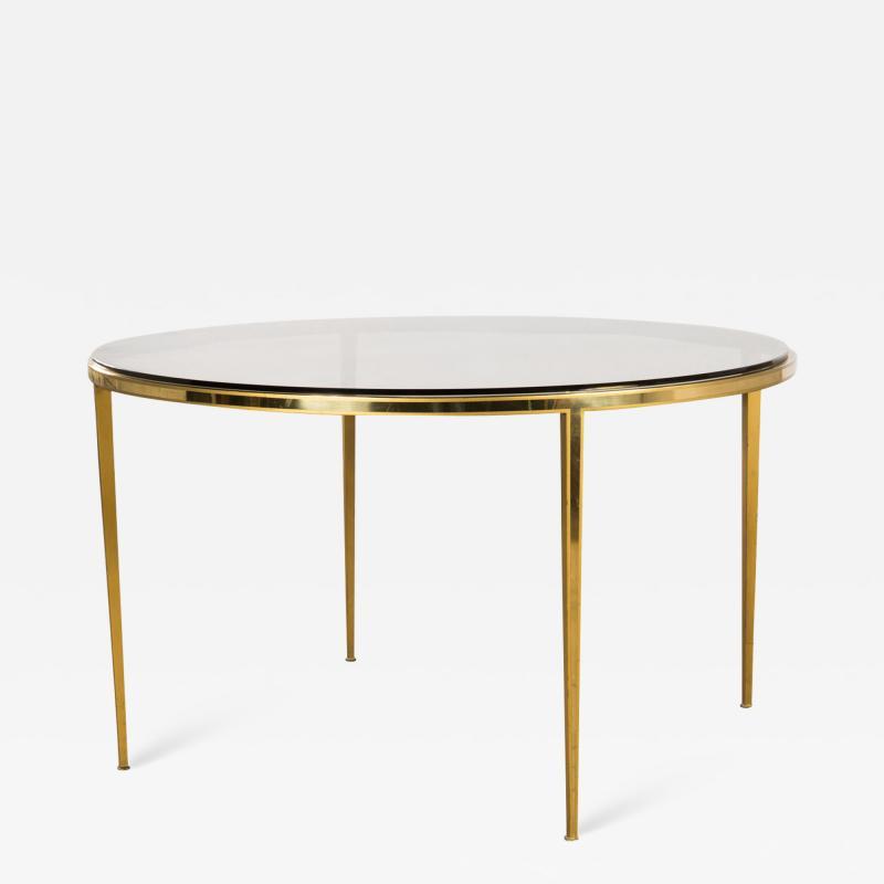 Vereinigte Werksta tten Golden Circular Brass Coffee Table by Vereinigte Werkst tten 1960ies