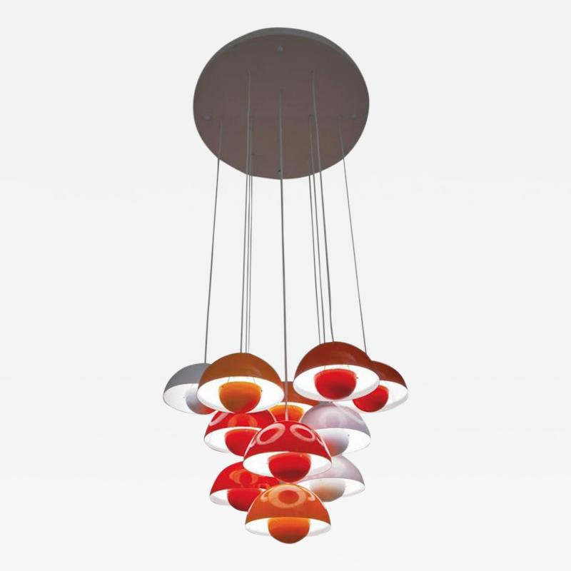 Verner Panton Verner Panton Flower Pot Hanging Lamp Manufactured by Louis Poulsen 1968