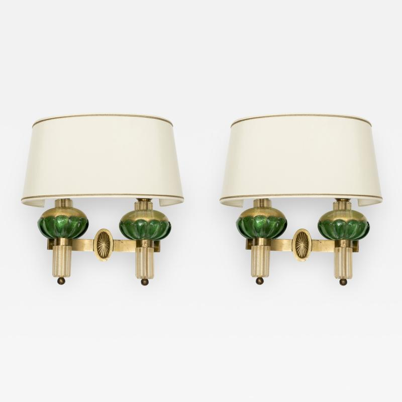 Veronese Pair of Murano glass sconces by Veronese