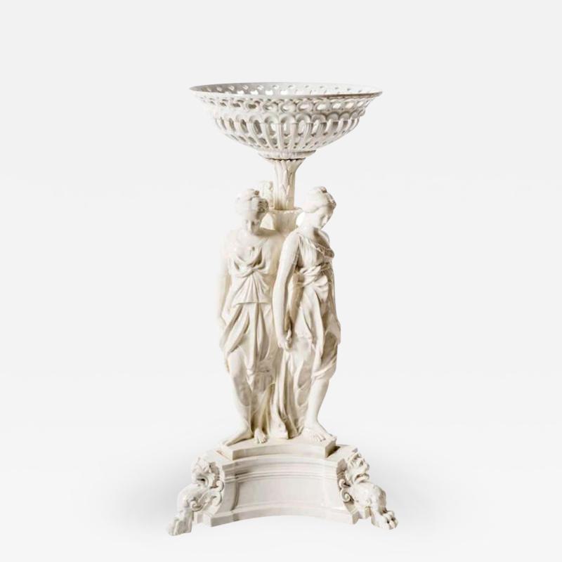 Very Fine Italian Porcelain 19th Century Table Center
