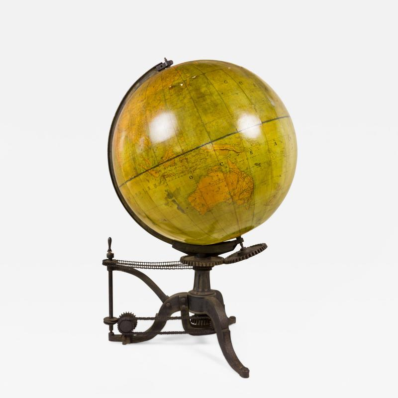 Very Large 19th Century World Globe France