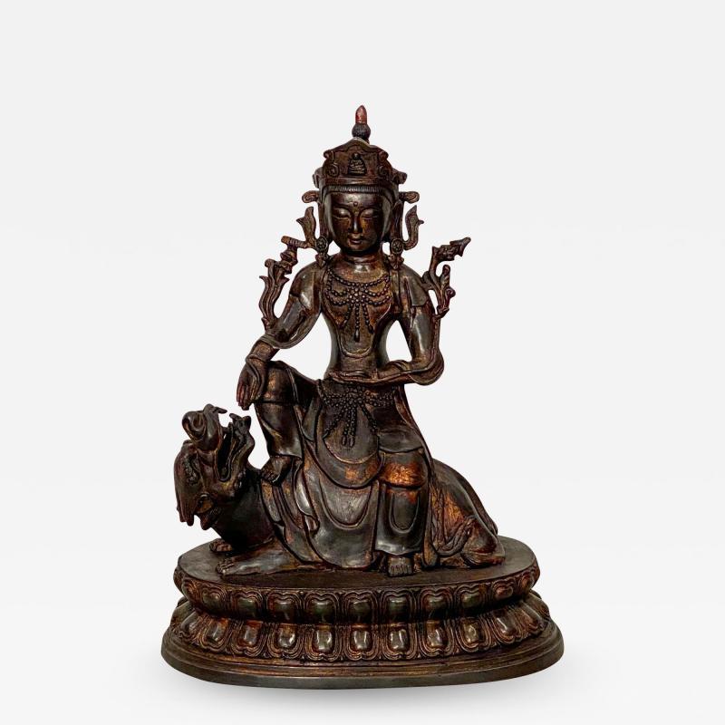 Very Large Casting of a Bodhisattva China circa 1980