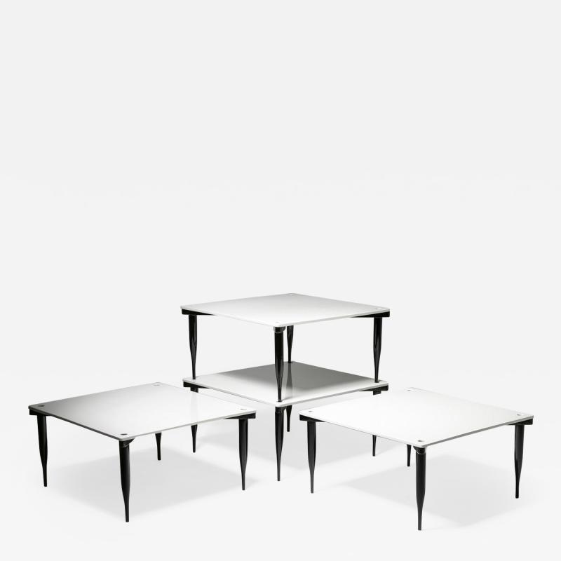 Vico Magistretti Set of Four T8 Stackable Tables by Vico Magistretti for Azucena