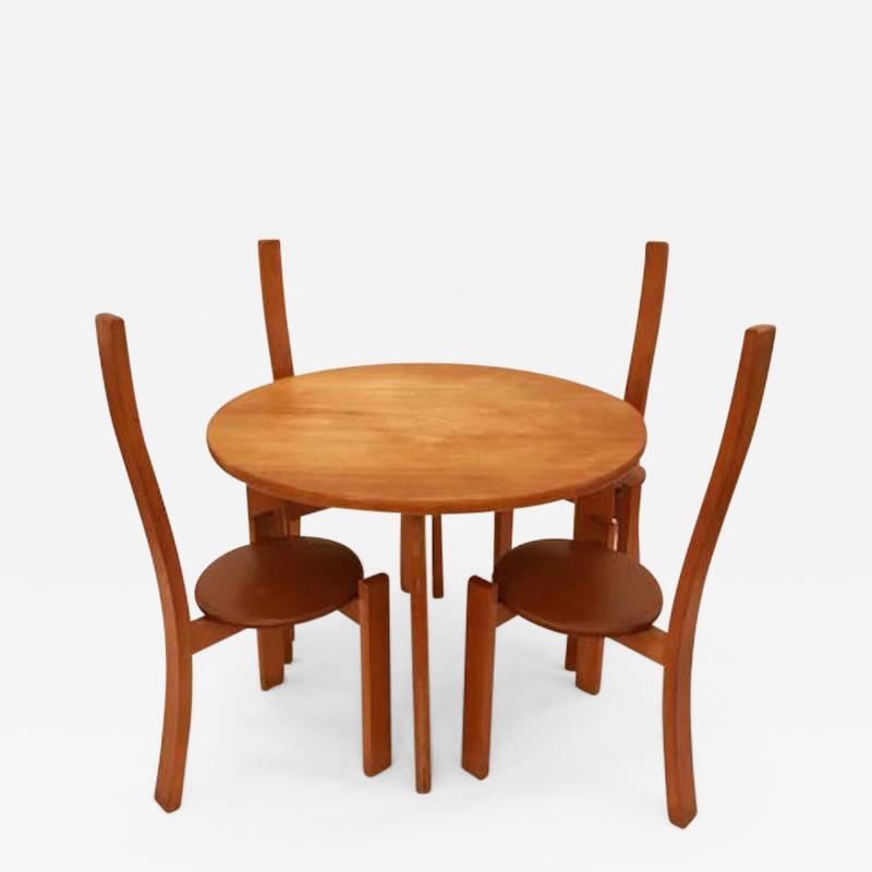 Vico Magistretti Vico Magistretti Modernist Table and Chair Set model Golem Italy 1970s