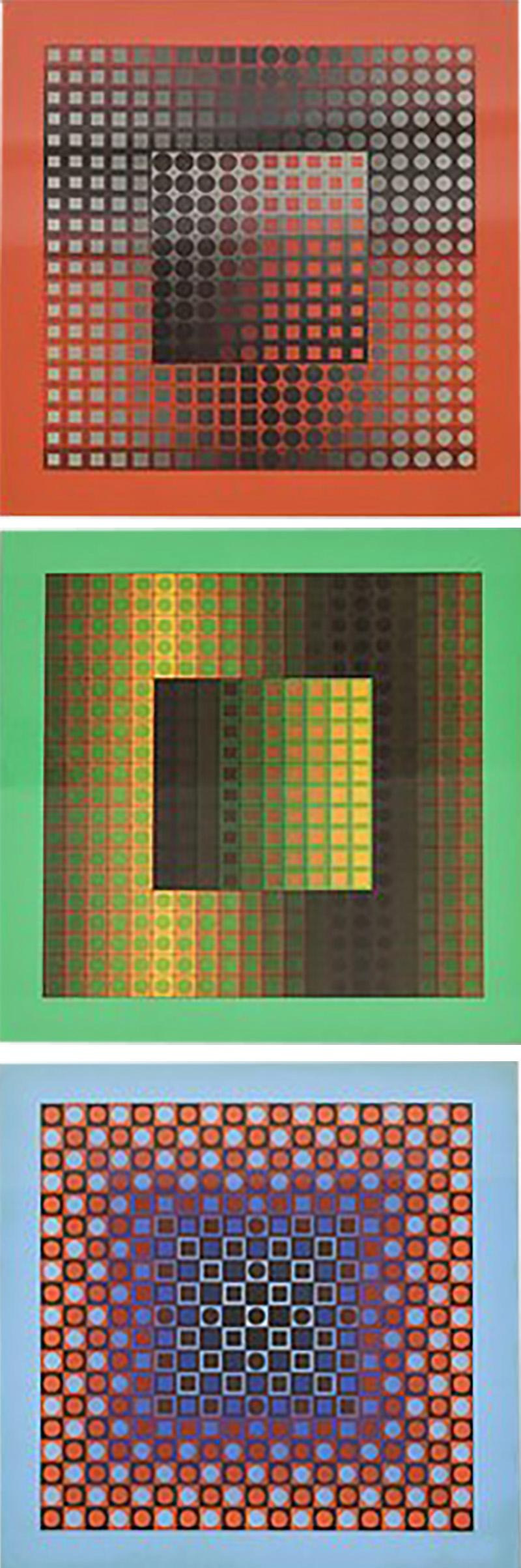 Victor Vasarely 3 Victor Vasarely Pictures Edition Griffon 1966