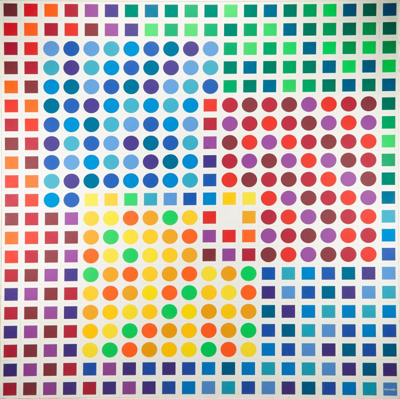 Victor Vasarely Victor Vasarely Optical Assemblage