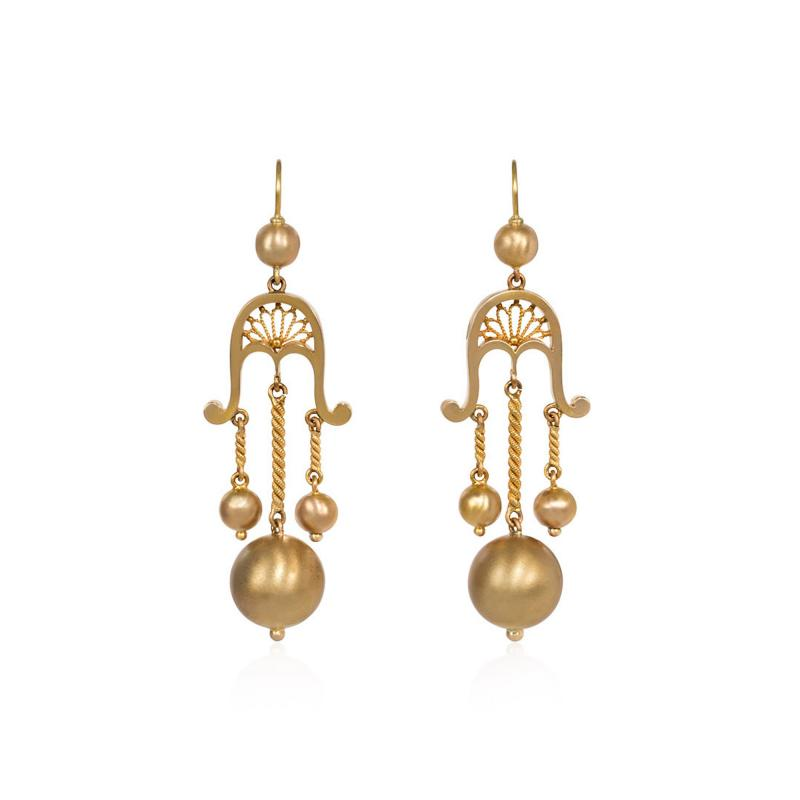 Victorian Gold Girandole Style Earrings