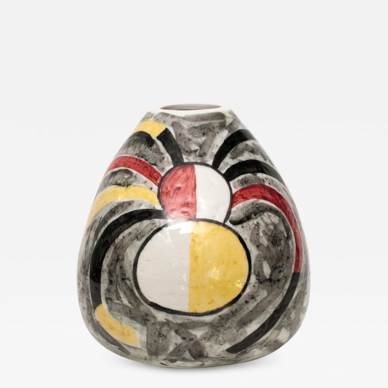 Vilhelm Bjerke Petersen Unique Swedish Mid Century Ceramic Vase by Vilhelm Bjerke Petersen