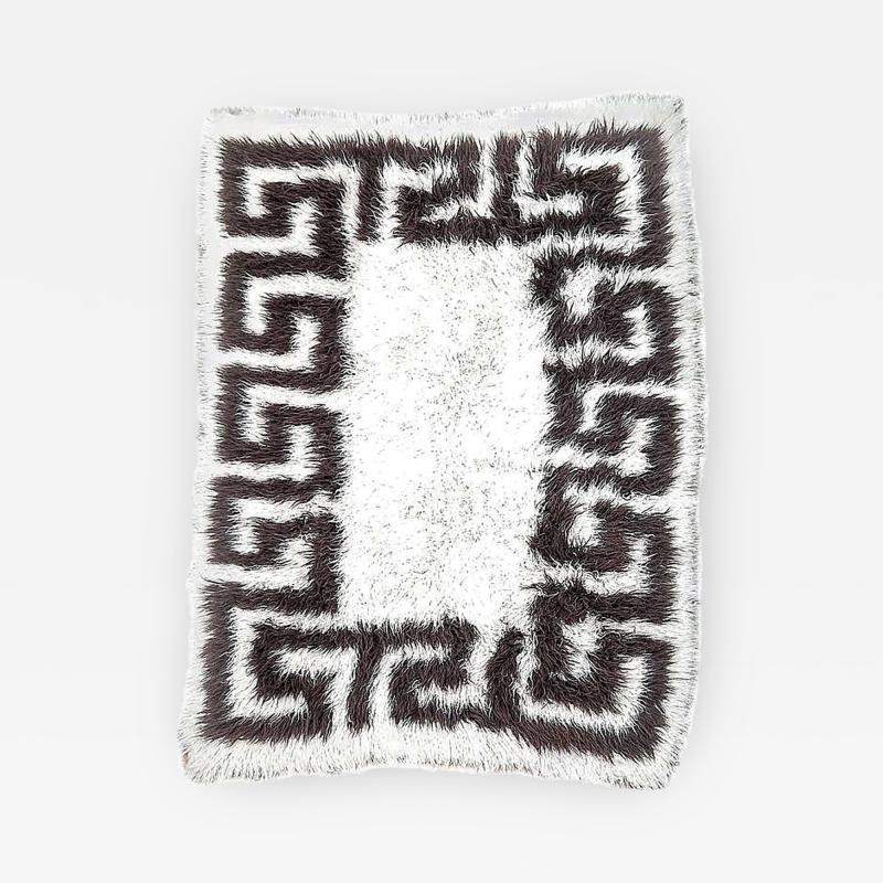 Vinatge Greek Key Wool Flokati