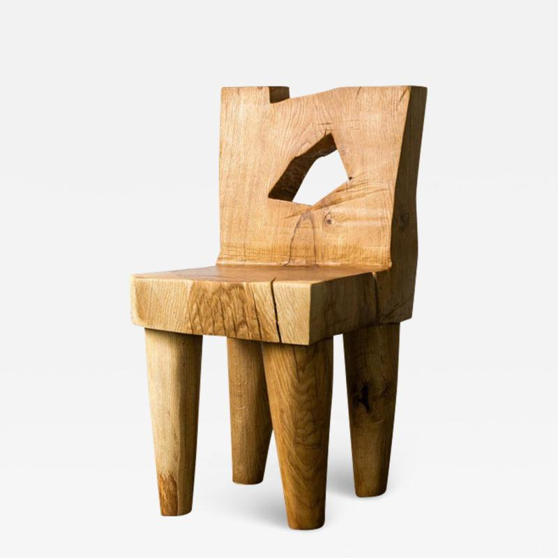 Vince Skelly Valletta Oak Chair Sculpted by Vince Skelly