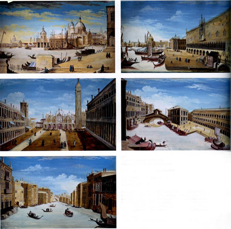 Vincenzo Chilone A set of Five Vedute scenes of Venice