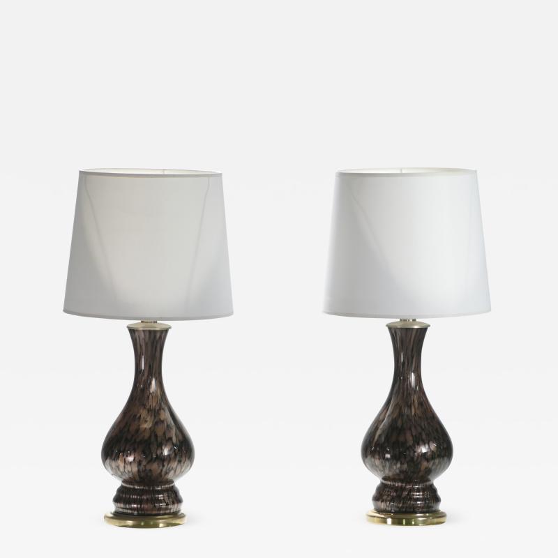 Vincenzo Nason Italian mid century Murano glass lamps Vincenzo Nason 1960s