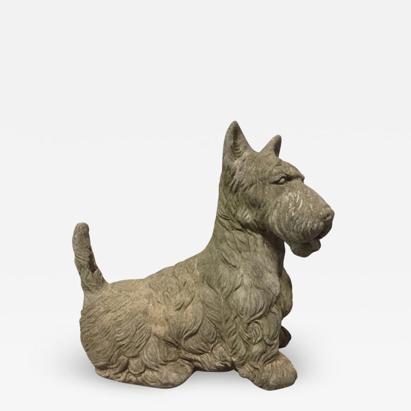 Vintage Cement Scottish Terrier