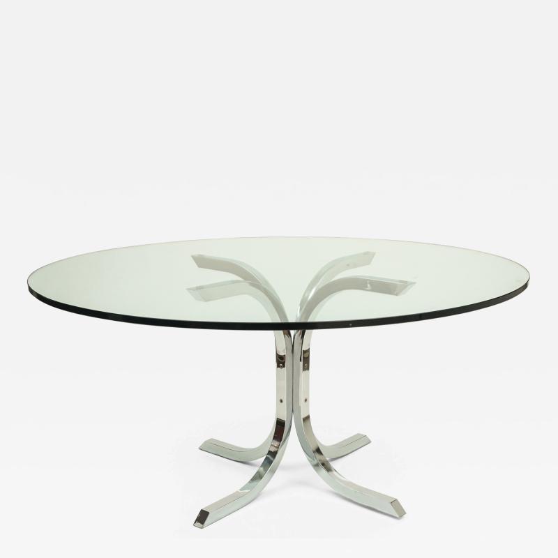 Vintage Chrome Dinning Table