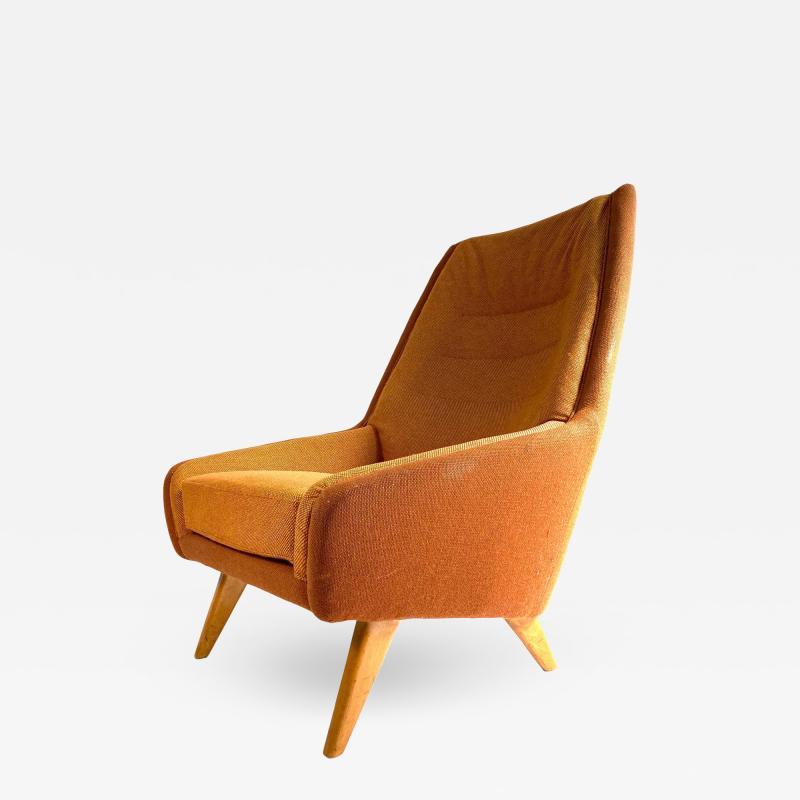 Vintage Danish Modern Highback Lounge Chair