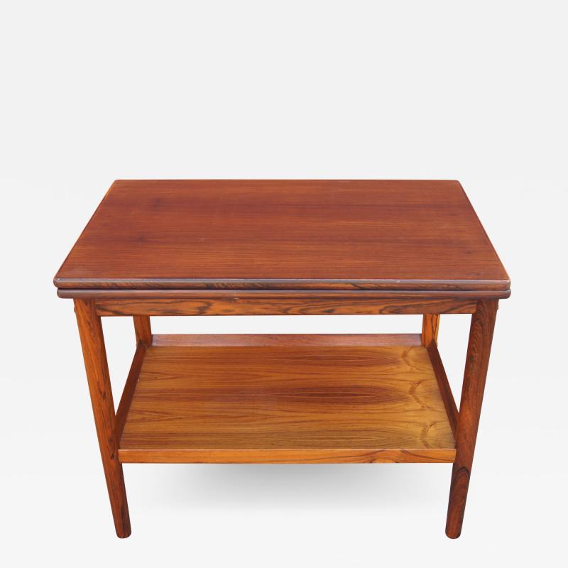 Vintage Danish Rosewood Flip top Tea Table