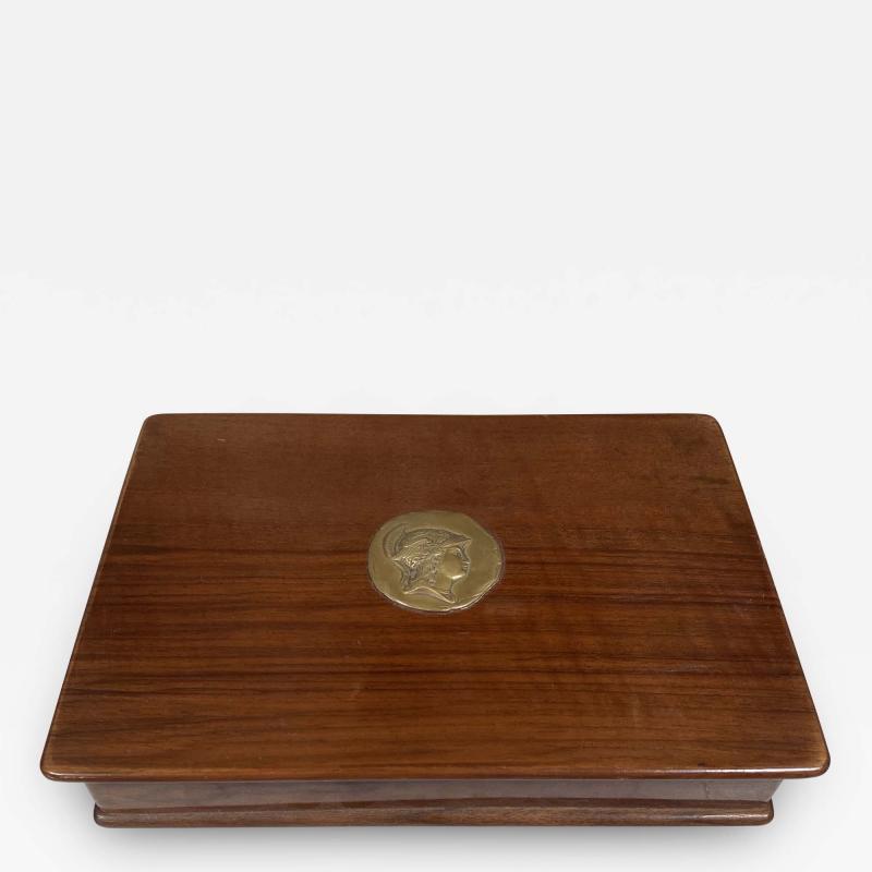 Vintage Decorative Italian Wood Box 1970s