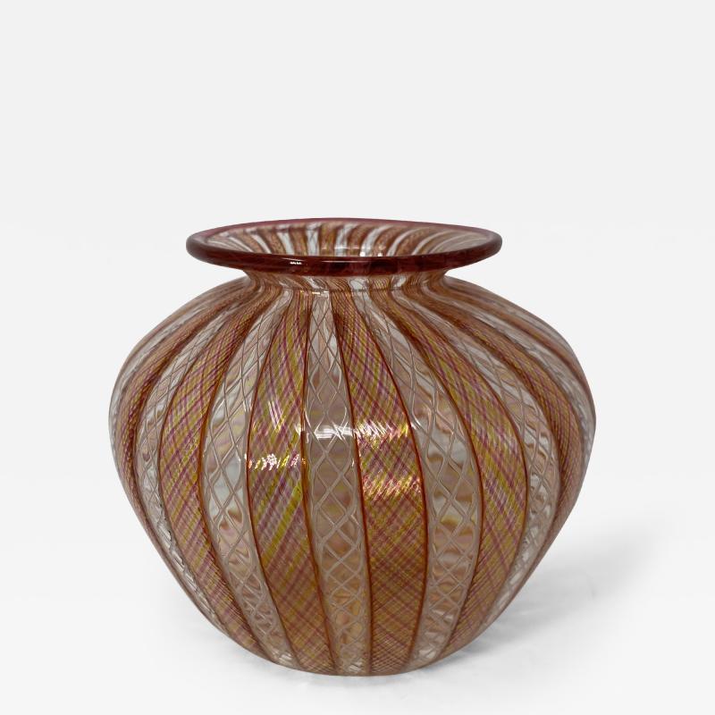 Vintage Filligrana Murano Glass Vase