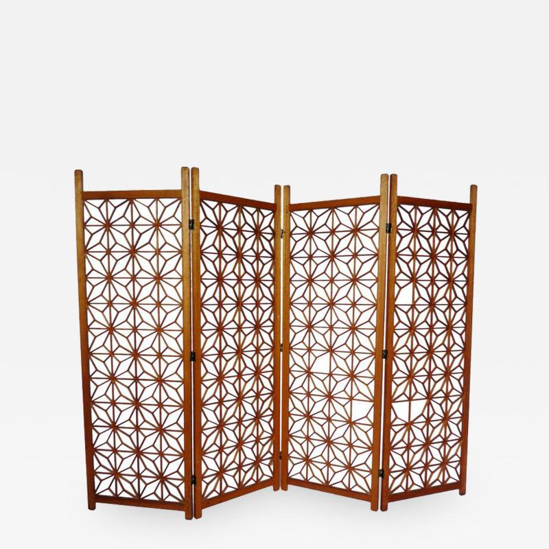 Vintage Four Panel Screen