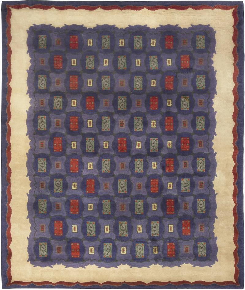 Vintage French Art Deco Rug by Paule Leleu
