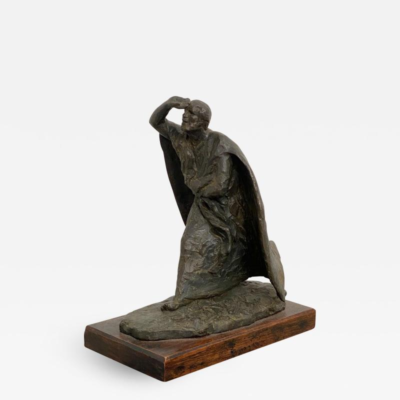 Vintage Italian Bronze Statue of A Man