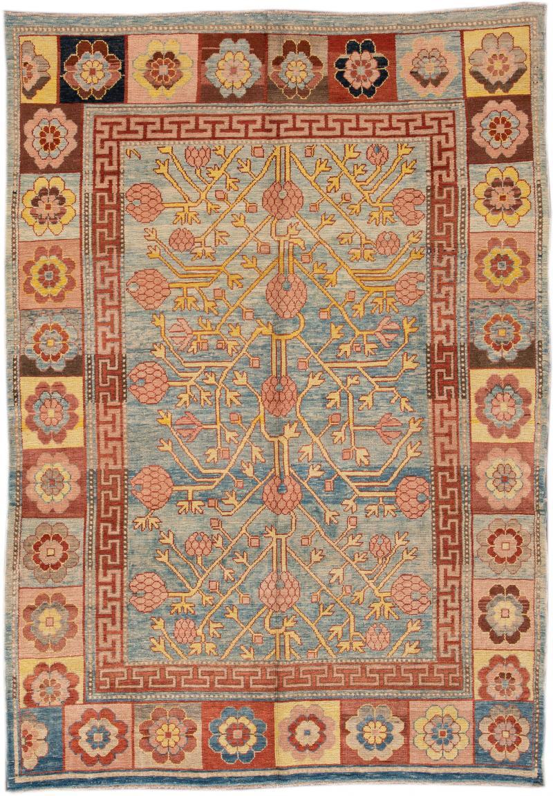 Vintage Khotan Style Tribal Wool Rug