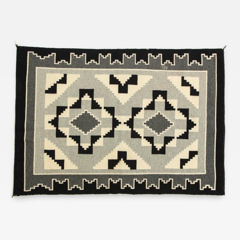 Vintage Navajo Woven Carpet Saddle Blanket