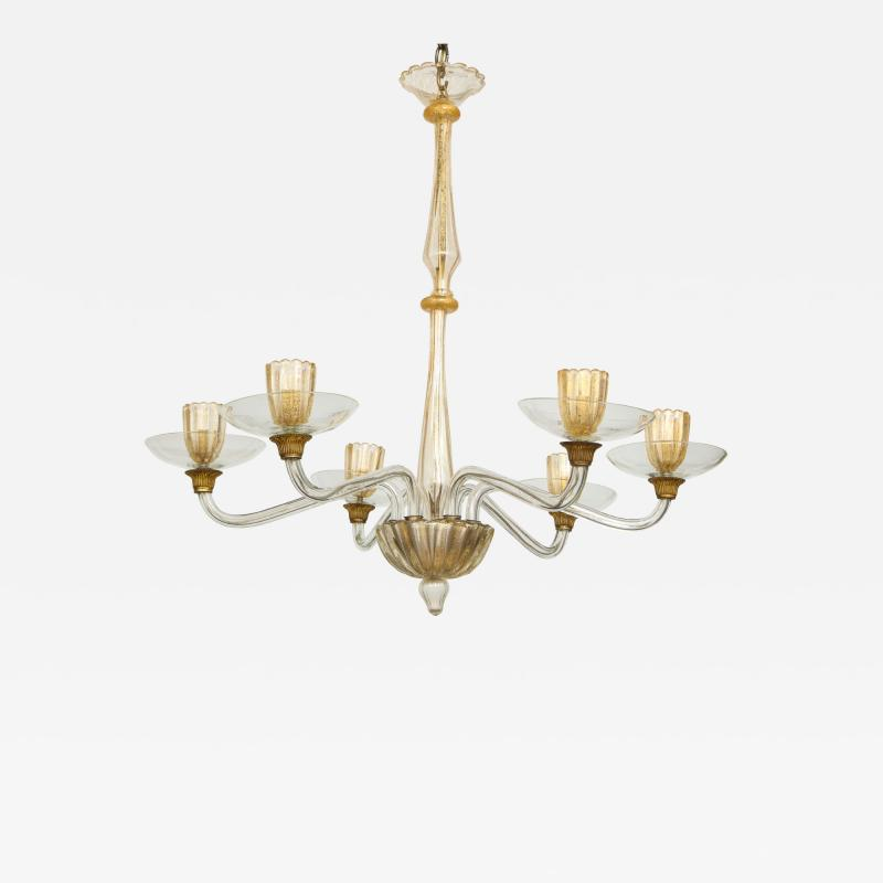 Vintage Over sized Six Arm Murano Chandelier