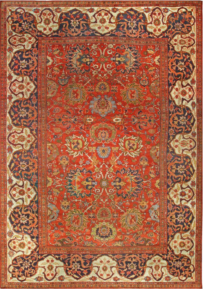 Vintage Persian Sultanabad Carpet
