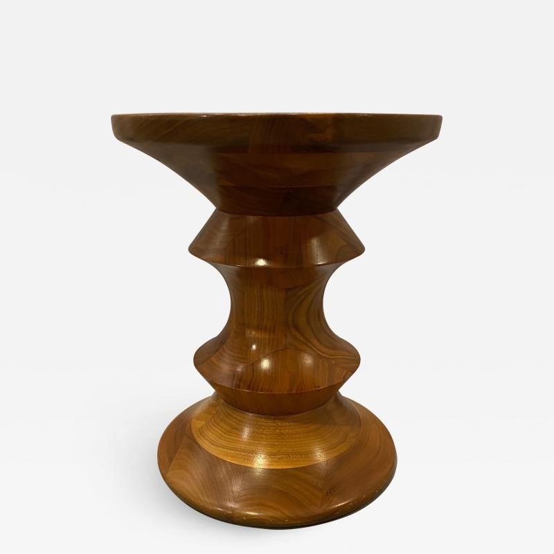 Vintage Walnut Time Life Stool