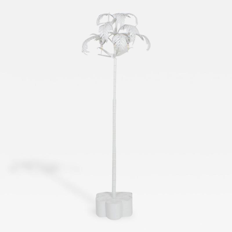 White lacquer palm tree floor lamp vintage white lacquer palm tree floor lamp aloadofball Image collections