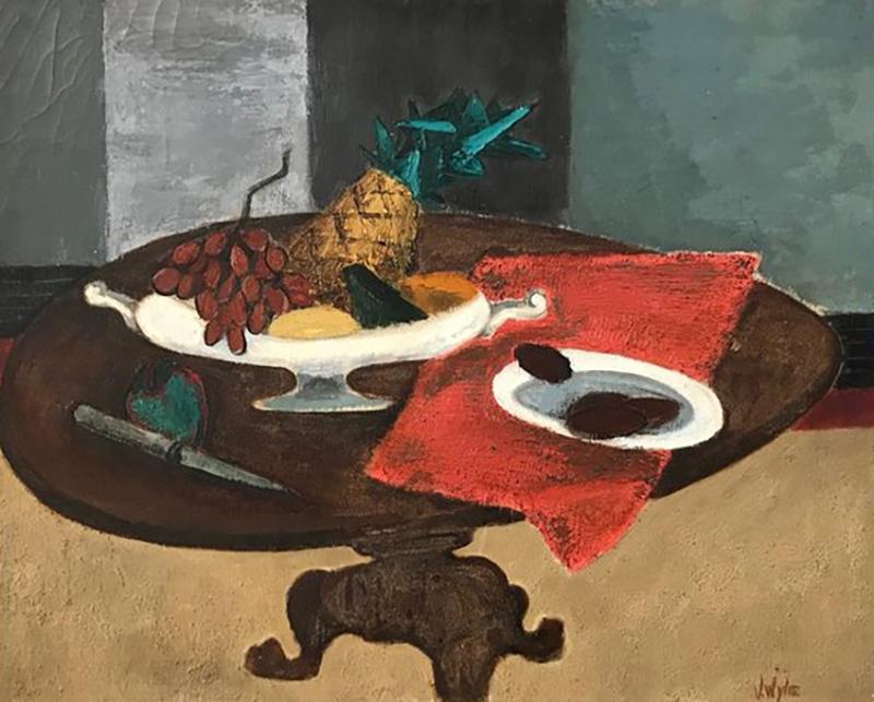 Virginia Wylie Vibrant oil on canvas still life by Virginia Wylie