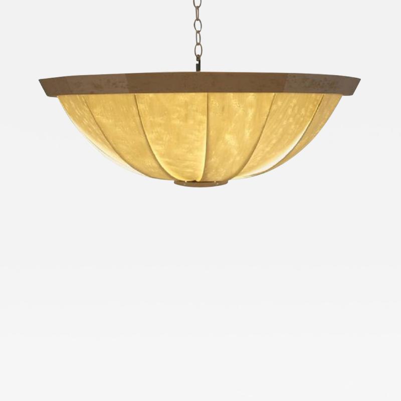 Visilek Furniture LLC Burst Birdseye Maple Veneer Light Fixture