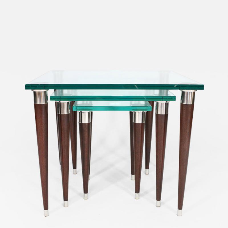 Visilek Furniture LLC Mezzo Glass Nesting Tables