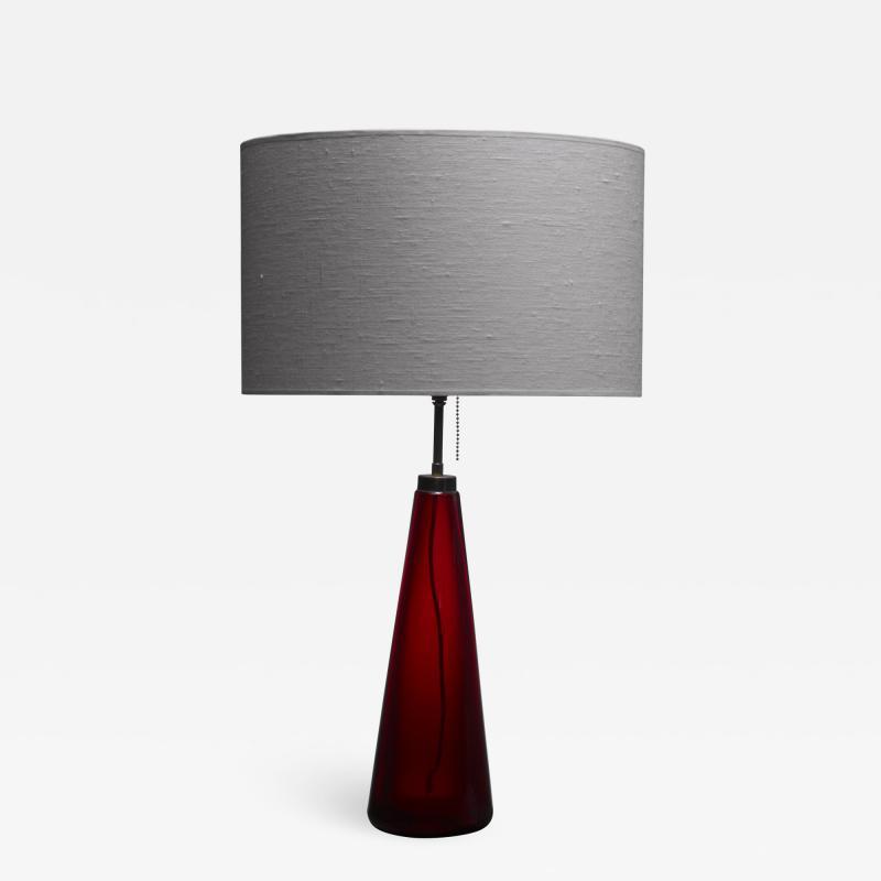 Vistosi red glass table lamp
