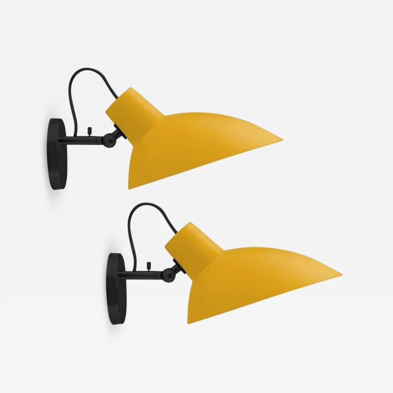 Vittoriano Vigano Pair of Vittoriano Vigan VV Cinquanta Sconces in Yellow and Black