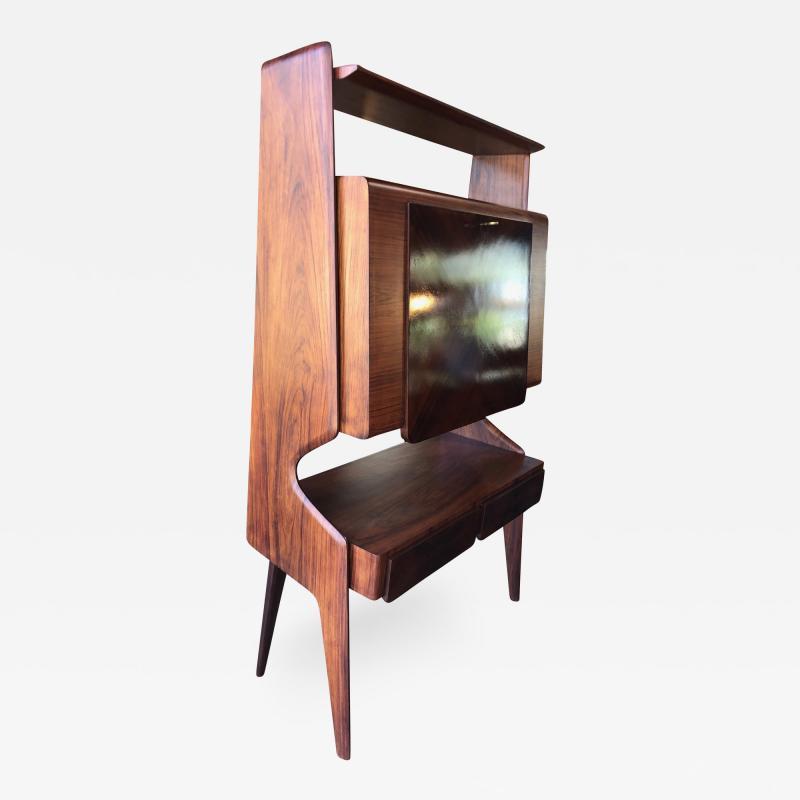 Vittorio Dassi Italian Walnut Bar Cabinet by Vittorio Dassi 1950s