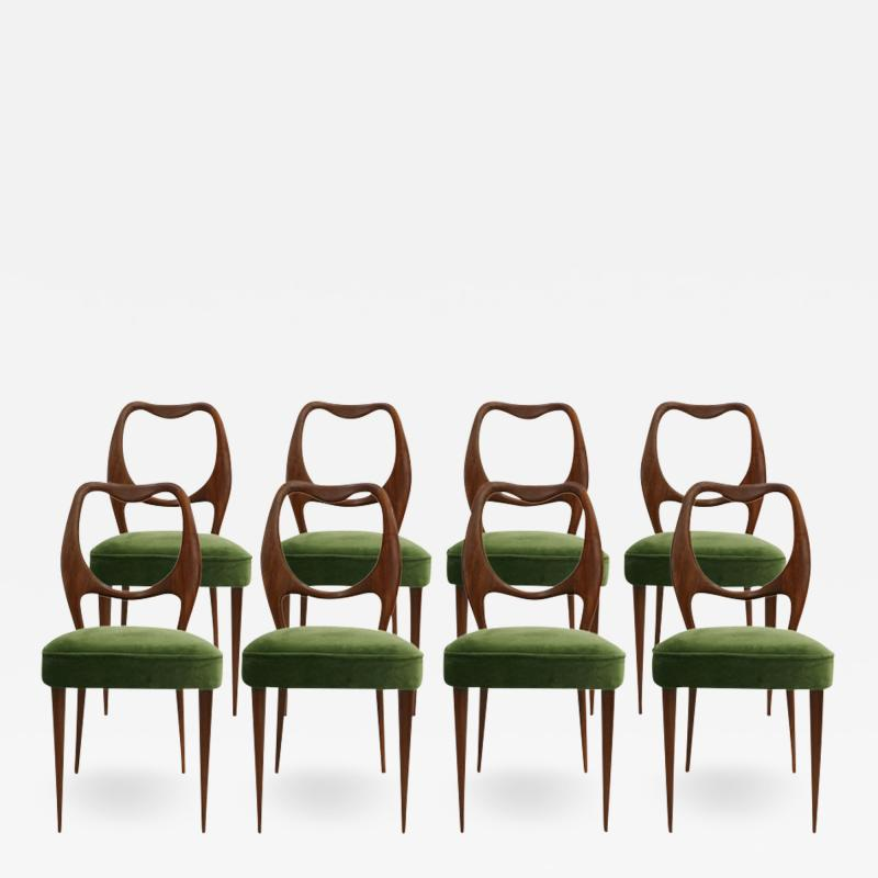 Vittorio Dassi Set of Eight Chairs Designed by Vittorio Dassi