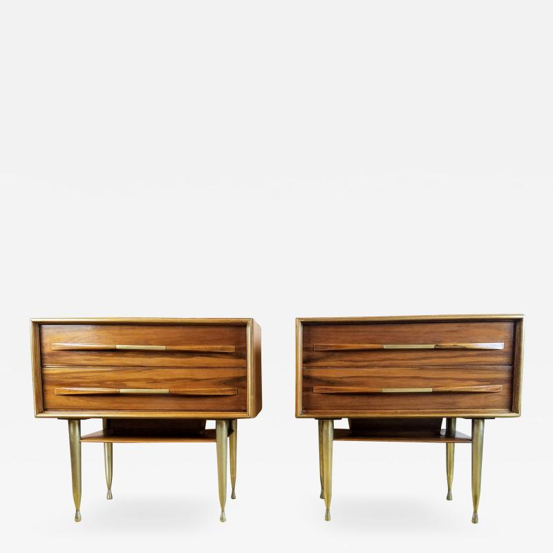 Vittorio Dassi Vittorio Dassi Pair of End Tables Nightstands Italy circa1955