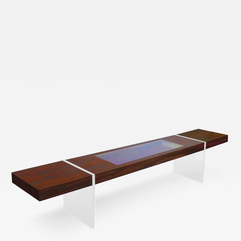 Vladimir Kagan Custom Kagan Illuminated Rosewood Low Table