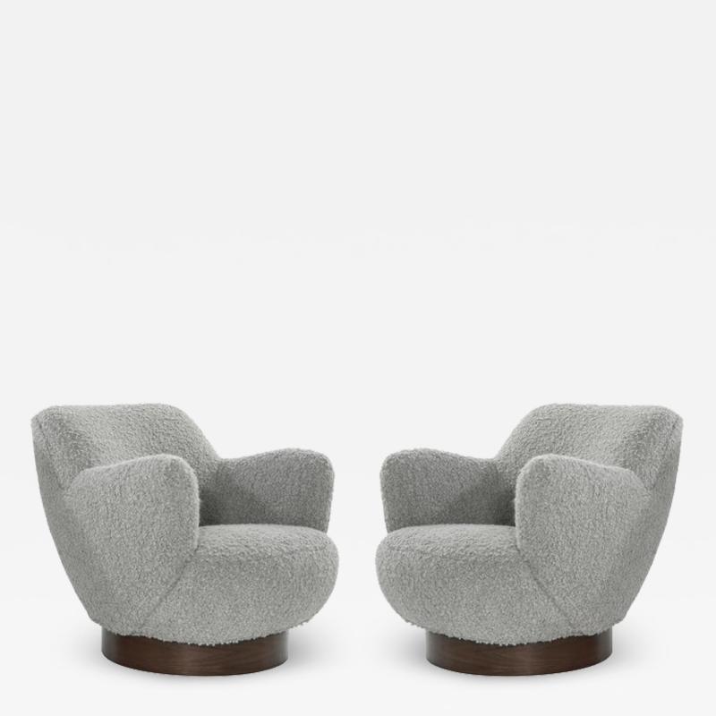 Vladimir Kagan Kagan Dreyfuss Swivel Chairs Model 100A by Vladimir Kagan circa 1960s