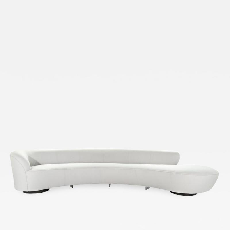 Vladimir Kagan Large Scale Serpentine Sofa by Vladimir Kagan