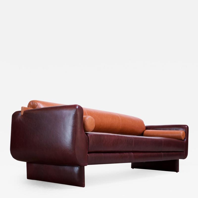 Vladimir Kagan Leather Matinee Sofa Daybed by Vladimir Kagan