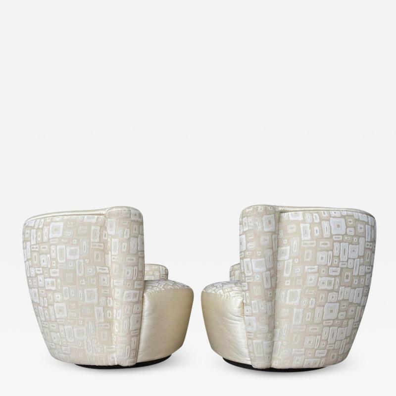Vladimir Kagan Pair of Mid Century Modern Swivel Lounge Nautilus Chairs by Vladimir Kagan
